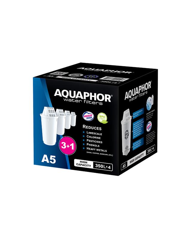 Ąsotėlio kasetės Aquaphor A5 3+1